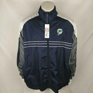 MIAMI DOLPHINS Reebok Windbreaker Jacket Size XL